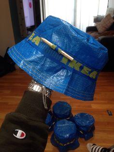IKEA Bucket Hat - Swedish Bubble RAve Lord 22INCH (SMALL MEDIUM 2edf1634cff8