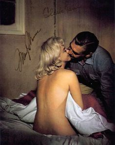 Marilyn Monroe and Clark Gable in The Misfits [1961] signed photo....he was something...