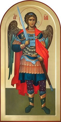 Cheaf Of the angels Byzantine Art, Byzantine Icons, Religious Icons, Religious Art, Famous Freemasons, Saint Gabriel, Angel Warrior, Russian Icons, Archangel Michael