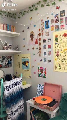 Room Design Bedroom, Room Ideas Bedroom, Girls Bedroom, Diy Bedroom Decor, Indie Room Decor, Cute Room Decor, Aesthetic Room Decor, Indie Dorm Room, Chambre Indie