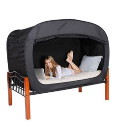 Privacy Pop Black Bed Tent