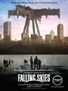 Falling Skies poster Metal Sign Wall Art 8in x 12in