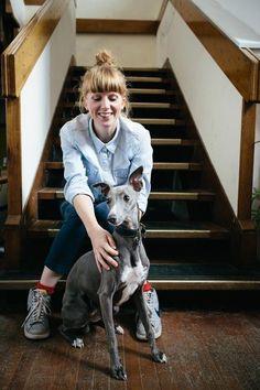 Laura Spring & her gorgeous dog. Textile Design, Textiles, Glasgow Scotland, Studio, Spring, Printer, Chips, Stationery, Inspirational