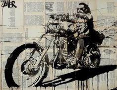 """Saatchi Art Artist LOUI JOVER; Drawing, """"rider -after dennis hopper"""" #art"""