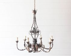 The Ava Chandelier ($690, originally $1,150) would look magnificent hanging above a simple farm table.