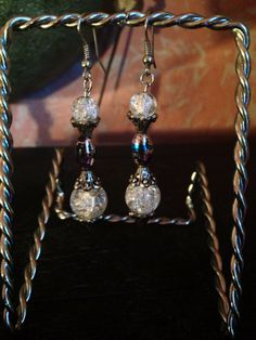 Beautiful glass beaded earrings handmade  by ElegantGiftShop4U, $19.99