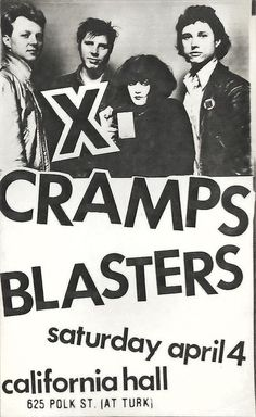 X, Cramps, Blasters - Old Punk Flyers
