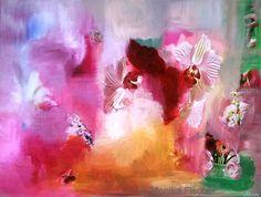 Leichtigkeit   -   Collage in Acryl auf Leinwand   -   58 x 75 cm