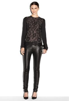 BLOUSANT SLEEVE LACE TOP - Lace - Featured MILLY NY