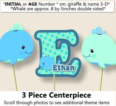 Hey, I found this really awesome Etsy listing at https://www.etsy.com/listing/254221996/baby-boy-whale-baby-shower-centerpiece