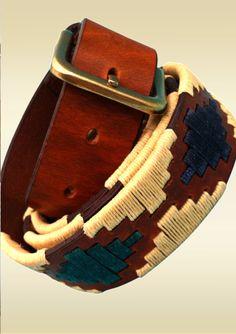 Find an exquisite leather  Estancia  rich London Tan leather base polo  belt 6c888c2910e0