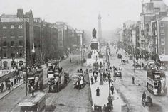 O'Connell Street photographed on Easter Monday April 24 1916 Easter Rising, Easter Monday, Seven Days, April 24, Dublin, Old Photos, Ireland, Irish, Past