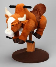 Take a look at this Brown Sound Bouncing Bull by M & F Western Products, Inc. on #zulily today!