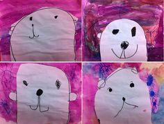 artisan des arts: Peeking polar bear art - Junior Kindergarten
