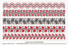 Semne Cusute: Romanian traditional motifs Simple Cross Stitch, Cross Stitch Borders, Cross Stitching, Cross Stitch Patterns, Peyote Patterns, Beading Patterns, Folk Embroidery, Loom Beading, Bead Weaving