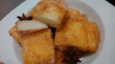 Leche frita.  http://www.aprendecocina.net/2014/04/17/leche-frita-3/: