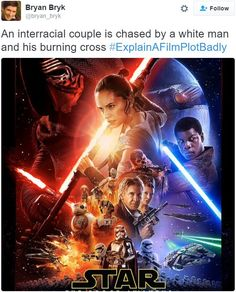 eXpertComics offers a wide choice of Marvel products, like the Star Wars - The Force Awakens Adaptation Ms) Variant. Visit eXpertComics' website to discover thousands of collectibles. Movie Plots Explained Badly, Explain A Film Plot Badly, Blockbuster Film, Funny Memes, Hilarious, Star Wars Humor, Looking For Love, Star Wars Art, A Comics