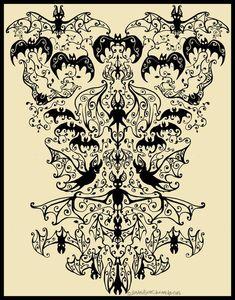 pretty bat pattern