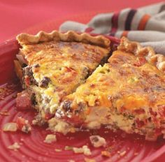 Cheeseburger Quiche With Ground Beef, Onions, Fresh Mushrooms, Eggs, Mayonnaise, Cream, Cheddar Cheese, Salt, Pepper