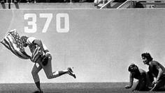 April 25, 1976  Rick Monday saves an American flag from being burned at Dodger Stadium.  Article about this incident at AZ Central.com  http://bit.ly/bAiNX2