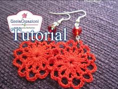 ▶ Tutorial 3 . * Orecchini Primavera all'uncinetto * How to do Spring Crochet Earrings - YouTube