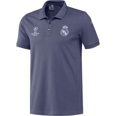 d5c6679a85424 Men s adidas Purple Real Madrid 2016 17 UCL Training Polo Real Madrid  Official