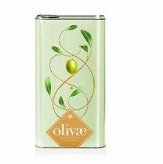 olivae olive oil packaging metal design