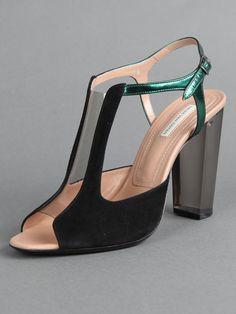 dries van noten plexiglass heel. Love the glass heels.