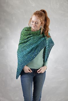 Ravelry: 5300D Transitions & Charming Trangle Shawl pattern by Barry Klein