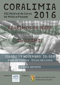 Coralimia 2016 Popular Music, Concerts, Fiestas, Choirs, Musica
