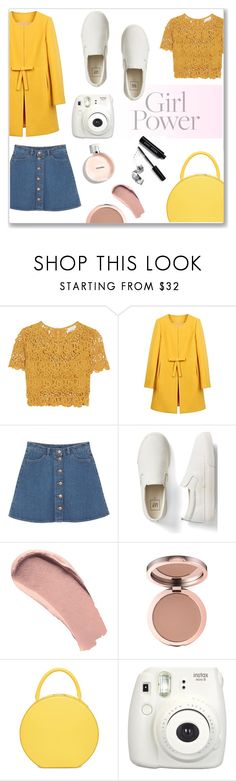 """Power look"" by milk-lips ❤ liked on Polyvore featuring Miguelina, WithChic, Monki, Gap, Burberry, Fujifilm, Bobbi Brown Cosmetics, outfit, like4like and contestentry"