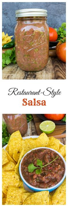 restaurant-style salsa, made in a blender