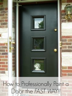 How to paint a door fast and give it a professional look