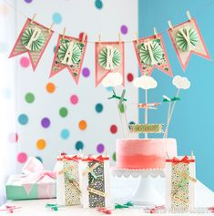 Gather a few crafting supplies and create these party pretties for your next event!