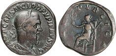 NumisBids: Numismatica Varesi s.a.s. Auction 65, Lot 229 : PUPIENO (238) Sesterzio. D/ Busto laureato, drappeggiato e...