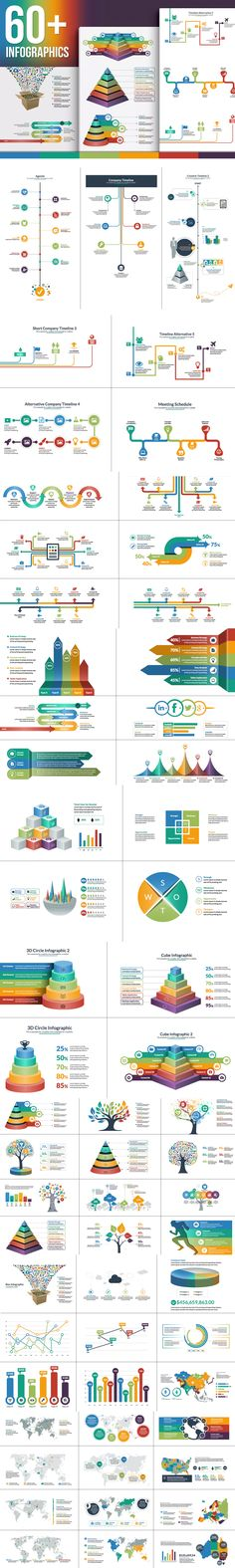 The Biggest Infographic Pack Template AI, EPS