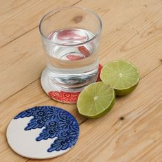 Lace Detail Ceramic Coaster