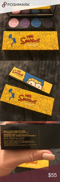 BNIB MAC The Simpsons Eyeshadow Palette Brand new. Authentic. MAC Cosmetics Makeup Eyeshadow