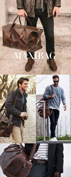 bolsa-grande-masculina Leather Handbags, Leather Bag, Leather Craft, Mens Satchel, Vintage Messenger Bag, Moda Blog, Men's Backpacks, Backpack Travel Bag, Leather Projects