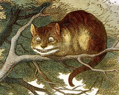John Tenniel, Lewis Carroll's Alice's Adventures in Wonderland, c. 1865- Cheshire Cat was Reverend Dr Edward Bouverie Pusey, Oxford professor of Hebrew, and Carroll's mentor.