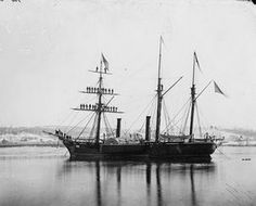 Steam Frigate at Navy Yard during President's visit. January 1863