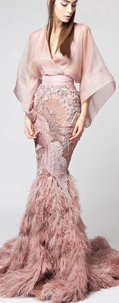 52 Ideas Embroidery Fashion Haute Couture Wedding Dresses For 2019 Elegant Dresses, Nice Dresses, Formal Dresses, Couture Dresses, Fashion Dresses, Couture Fashion, Runway Fashion, Organza Dress, Embroidery Fashion