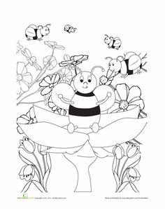 bumble bee coloring page - Bumble Bee Coloring Pages Kids