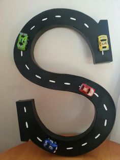 Decorated Letters For Boys, Cars Letters, Kids Car Room Ideas, Car Themed Kids Room, Car Theme Kids Room, Boys Room, Boy Room