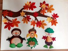 Autumn Crafts, Fall Crafts For Kids, Autumn Art, Art For Kids, Diy And Crafts, Paper Crafts, Autumn Decorating, Fall Decor, Childrens Christmas Crafts