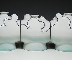 Cloudscape by ceramic artist Sam Chung