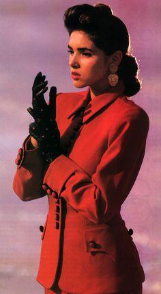 Emilio Moussa for Model magazine, September 1988. Suit by Norma Kamali. 80s fashion