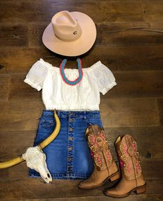 Shop This Look Online or in store & Cute Cowgirl Outfits, Cowboy Boot Outfits, Country Style Outfits, Cowgirl Dresses, Southern Outfits, Rodeo Outfits, Country Fashion, Western Outfits, Western Wear