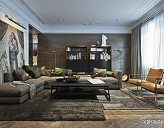 Modern interior with a traditional touch