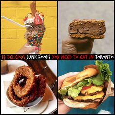 Junk Food 17 Delicious Junk Foods You Need To Eat In Toronto. I need to get exploring here to find all these goodies! - Gogobot users tell us where to eat when up north. Toronto Vacation, Toronto Travel, Vacation Ideas, Ontario, Butter Tarts, Canada Travel, Canada Trip, Canada Eh, Toronto Canada